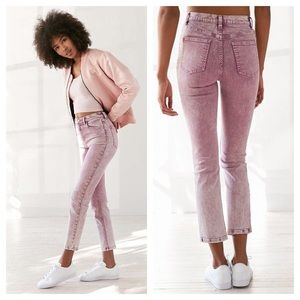 NWT BDG girlfriend jeans - purple acid wash